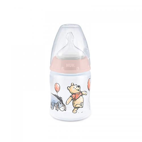 Biberon Nuk First Choice 150 ml tetina silicon Disney roz 0-6 luni - Biberoane tetine -