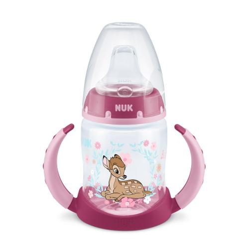 Biberon Nuk First Choice PP 150 ml cu toarte si tetina de invatare Disney Bambi 6-18 luni - Biberoane tetine -