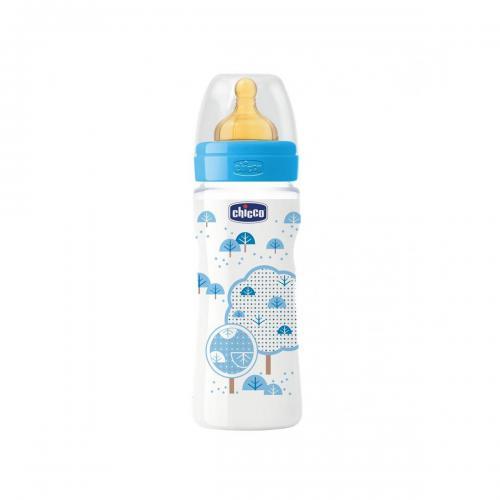 Biberon Wellbeing Chicco - 330 ml - 4 luni + - Albastru - Biberoane tetine -