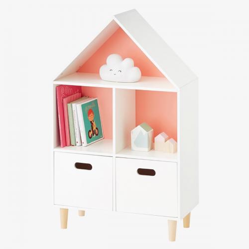 Biblioteca Home Concept Sugar - Roz - Camera copilului - Mobila camera copii