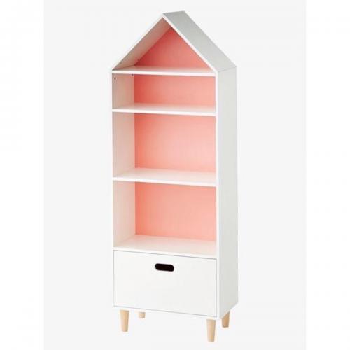 Biblioteca Home Concept Teddy - Roz - Camera copilului - Mobila camera copii