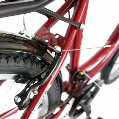 Bicicleta City 24 Rich R2432A cu 18 viteze culoare visiniualb - Biciclete copii  -