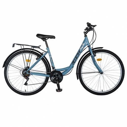 Bicicleta City 26 Rich R2632A frana V-Brake culoare albastrunegru - Biciclete copii  -