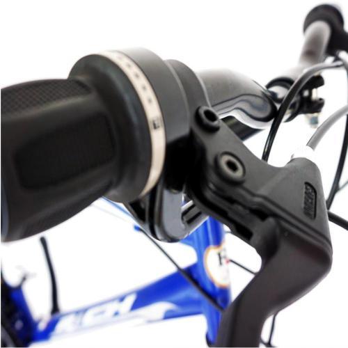 Bicicleta City 26 Rich R2635A cadru otel albastru alb - Biciclete copii  -
