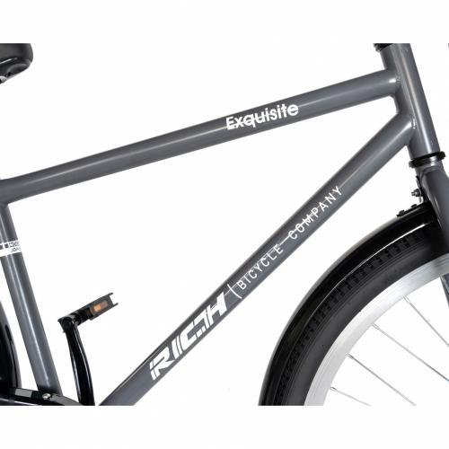Bicicleta City 28 Rich Exquisite R2891A grialb - Biciclete copii  -