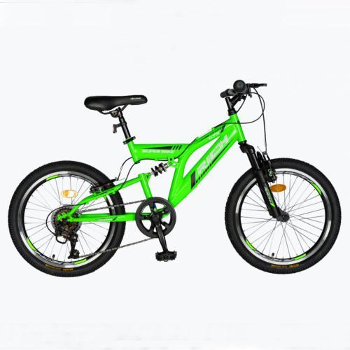 Bicicleta copii 20 inch Rich Alpin R2049A 6 viteze tip frana V-Brake verdenegru 7-10 ani - Biciclete copii  -