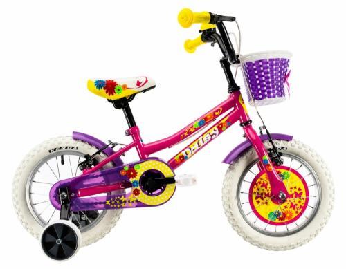 Bicicleta copii Dhs 1404 roz 14 inch - Biciclete copii  -