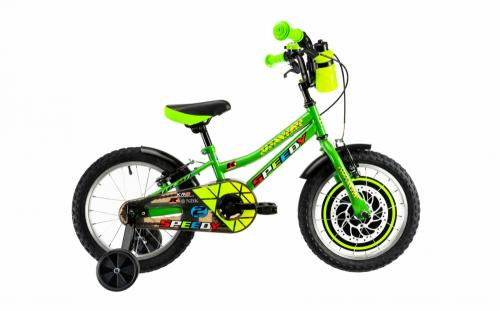 Bicicleta copii Dhs 1603 verde 16 inch - Biciclete copii  -