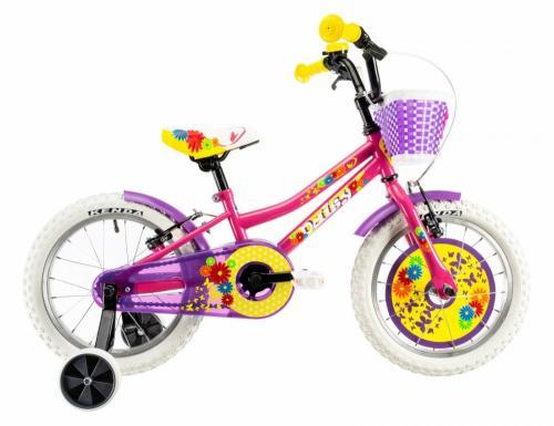 Bicicleta copii Dhs 1604 roz 16 inch - Biciclete copii  -