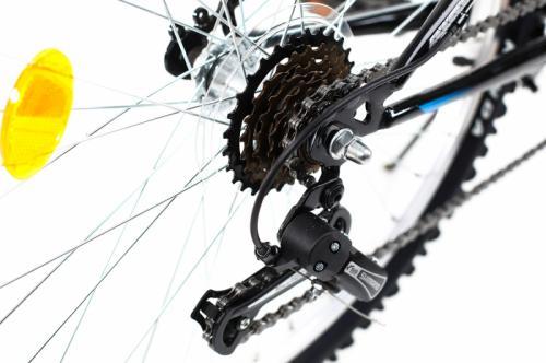 Bicicleta copii Dhs 2421 negru bleu 24 inch - Biciclete copii  -