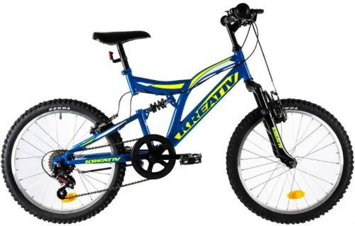 Bicicleta copii Kreativ 2041 albastru 20 inch - Biciclete copii  -