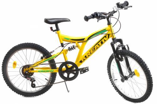 Bicicleta copii Kreativ 2041 galben 20 inch - Biciclete copii  -
