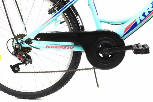Bicicleta copii Kreativ 2414 turcoaz light 24 inch - Biciclete copii  -