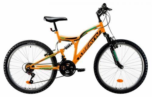 Bicicleta copii Kreativ 2441 portocaliu 24 inch - Biciclete copii  -