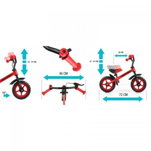 Bicicleta fara pedale cu frana Dragon Red - Biciclete copii  -