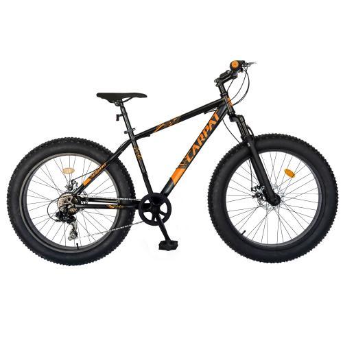 Bicicleta Fat Bike Carpat Hercules 20 inch C2019B 6 viteze culoare negruportocaliu - Biciclete copii  -