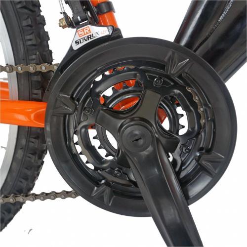 Bicicleta MTB-FS 24 Rich Alpin R2449A 18 viteze culoare negruportocaliu - Biciclete copii  -
