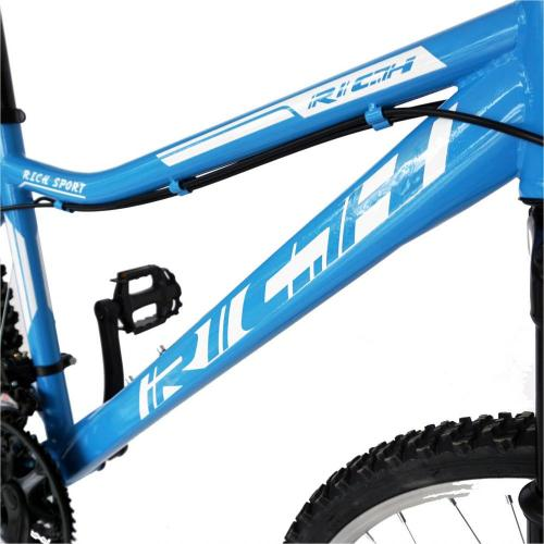 Bicicleta MTB-HT 26 Rich R2652A cadru otel albastrualb - Biciclete copii  -