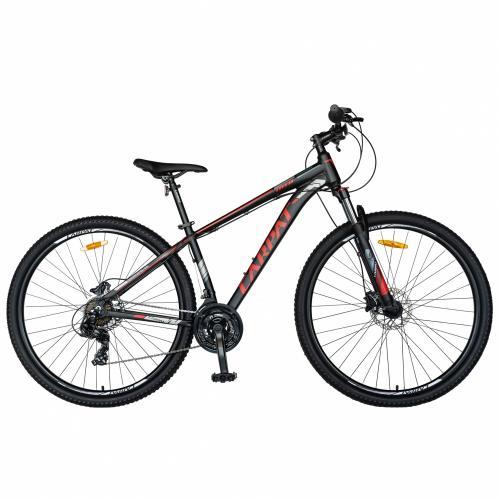 Bicicleta MTB-HT 29 Carpat C2999H cadru aluminiu 21 viteze culoare negrurosu - Biciclete copii  -