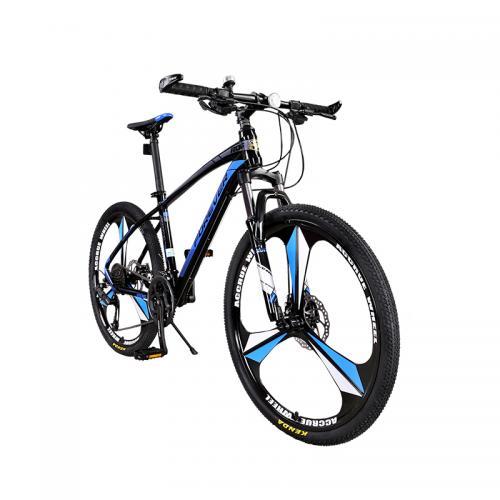 Bicicleta MTB-HT Forever F26R1B roata 26 cadru aluminiu 27 viteze culoare negrualbastru - Biciclete copii  -