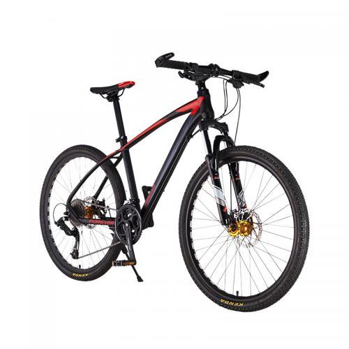 Bicicleta MTB-HT Forever F26R7B roata 26 cadru aluminiu 27 viteze culoare negrurosu - Biciclete copii  -