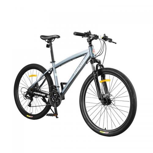 Bicicleta MTB-HT Forever F26S1B roata 26 cadru aluminiu 27 viteze culoare grialb - Biciclete copii  -