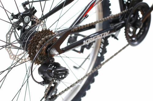 Bicicleta Mtb Kreativ 2643 M negru rosu 26 inch - Biciclete copii  -