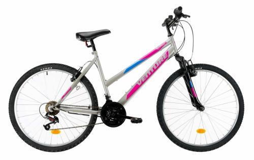 Bicicleta Mtb Venture 2602 gri M 26 inch - Biciclete copii  -
