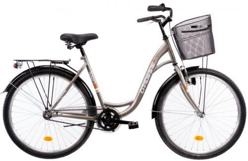 Bicicleta oras Dhs Citadinne 2630 gri M 26 inch - Biciclete copii  -