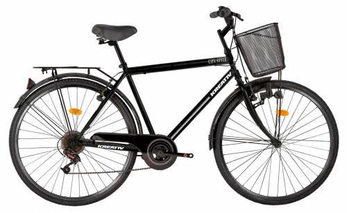 Bicicleta oras Kreativ 2813 L negru 28 inch - Biciclete copii  -