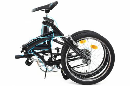 Bicicleta pliabila Dhs 2095 negru 20 inch - Biciclete copii  -