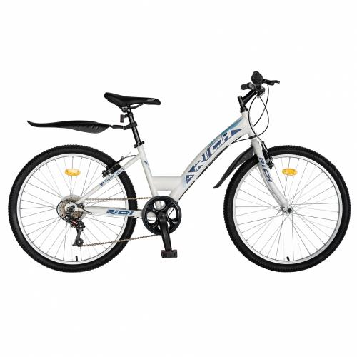 Bicicleta Trekking 24 Rich R2430A 6 viteze albalbastru - Biciclete copii  -