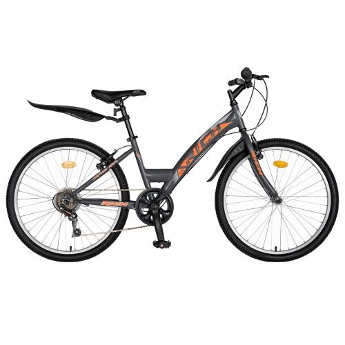 Bicicleta Trekking 24 Rich R2430A 6 viteze griportocaliu - Biciclete copii  -