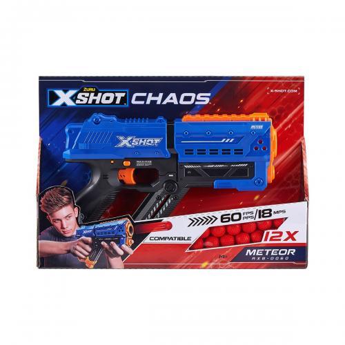 Blaster X-Shot Chaos Meteor cu 12 gloante din spuma - Jocuri in aer liber -