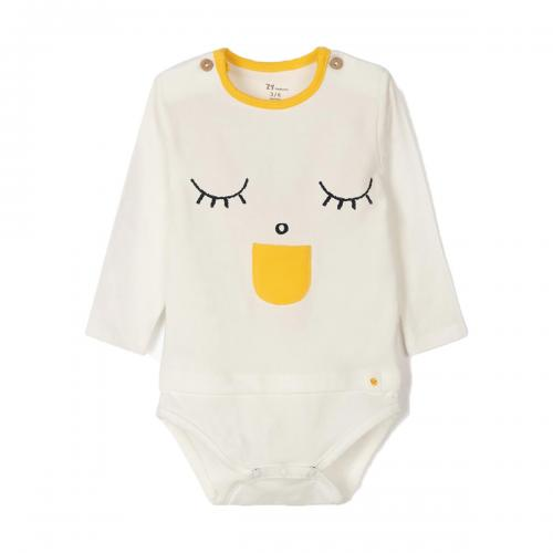 Body cu maneca lunga si imprimeu frontal Zippy - Imbracaminte copii - Body bebe