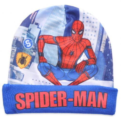 Caciula de baieti cu imprimeu Spiderman - Blue - Imbracaminte copii - Caciula pentru copii