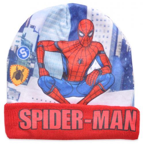 Caciula de baieti cu imprimeu Spiderman - Rosu - Imbracaminte copii - Caciula pentru copii