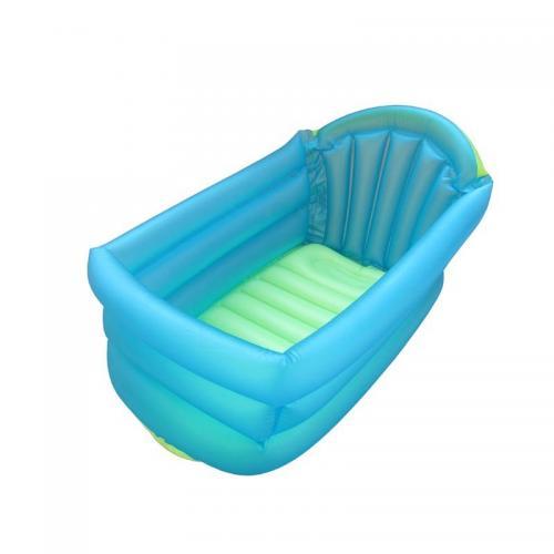 Cadita gonflabila de baie pentru bebelus Primii Pasi - Albastru - Baita bebelusului - Cadite baie bebelusi