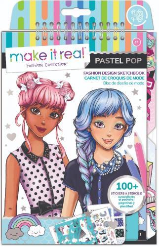 Caietul designerului - Make It Real - Pastel Pop - Jocuri creative -