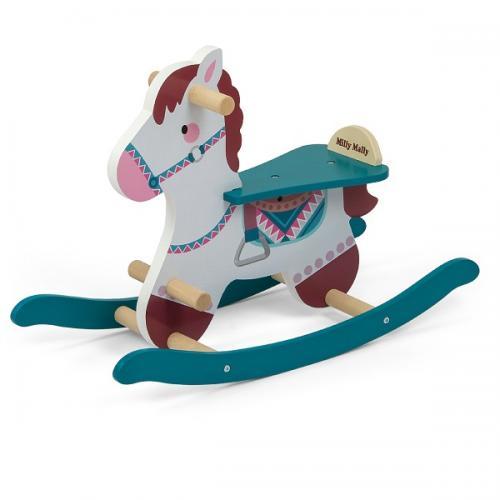 Calut balansoar din lemn Lucky Blue - Balansoare copii -
