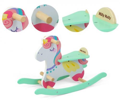 Calut balansoar din lemn Lucky Unicorn - Balansoare copii -