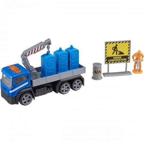 Camion cu accesorii de constructie Teamsterz - Albastru - Masinute copii -