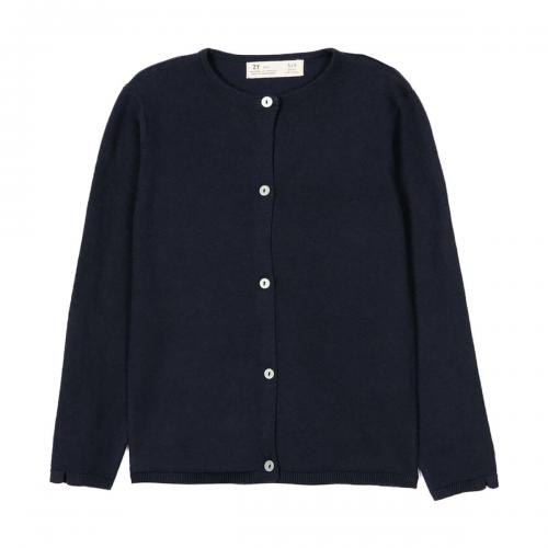 Cardigan tricotat cu nasturi Zippy - Albastru - Imbracaminte copii - Pulovere