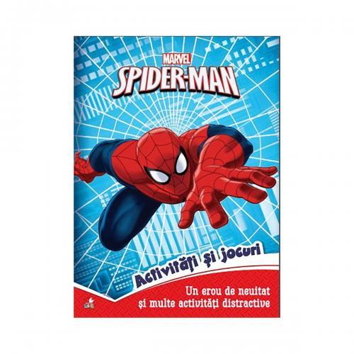 Carte cu activitati si jocuri Spiderman - Marvel - Carti pentru copii -