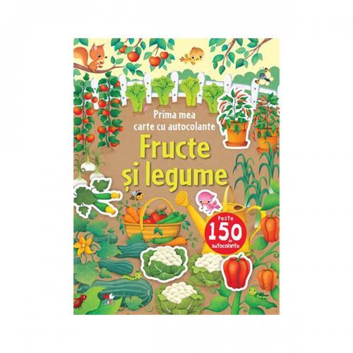 Carte cu autocolante Editura Litera - Fructe si legume - Carti pentru copii -