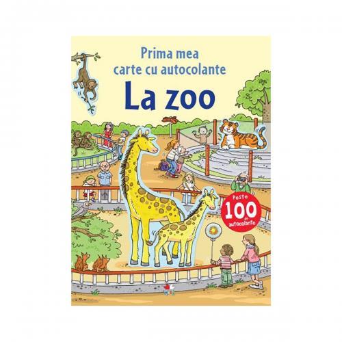 Carte cu autocolante Editura Litera - La Zoo - Carti pentru copii -