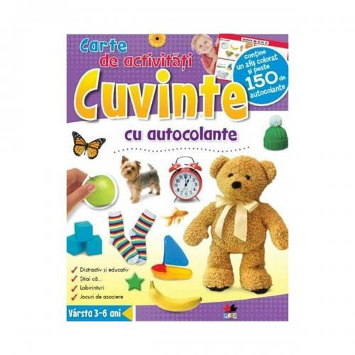 Carte de activitati cu autocolante Editura Litera - Cuvinte - Carti pentru copii -