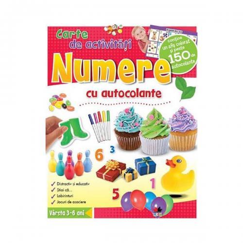 Carte de activitati cu autocolante Editura Litera - Numere - Carti pentru copii -