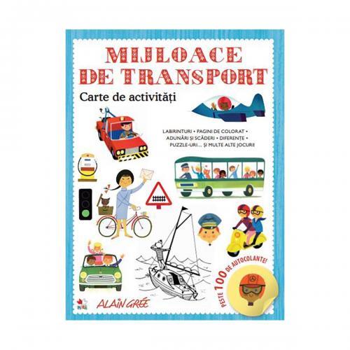 Carte de activitati Editura Litera - Mijloace de transport - Carti pentru copii -