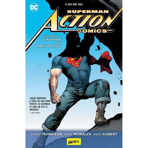 Carte Editura Arthur - Superman action comics 1: Superman si omul de otel - Grant Morrison - Rags Morales - Andy Kubert - Carti pentru copii -